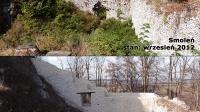 Częściowe odrestaurowanie zamku w Smoleniu porównanie lat: 2012 i 2014 ... Czy na pewno ruiny zamków należy odbudowywać ?